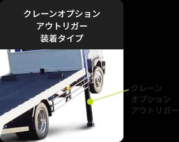 クレーンオプションアウトリガー装着タイプ
