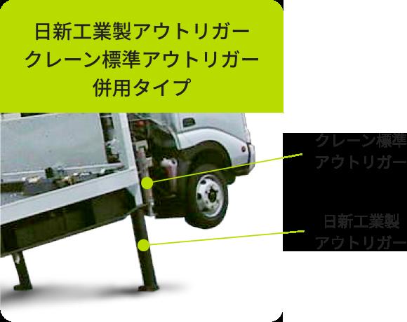 日新工業製アウトリガークレーン標準アウトリガー併用タイプ