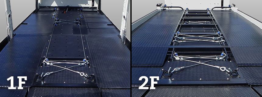 1F、2F固縛装置 ・ワイヤー荷締機 ・ターンシャックル ・シャックルローラー ・埋込フック ・シャックルの画像